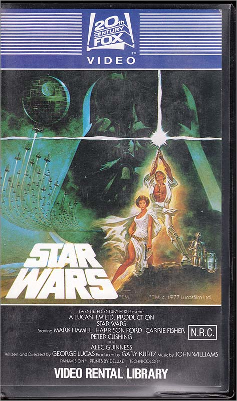 Star Wars Video Rental Library First Print Vhs Steve Hoffman Music Forums